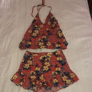 Floral matching separate piece